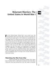 Reluctant Warriors: The United States in World War I 10
