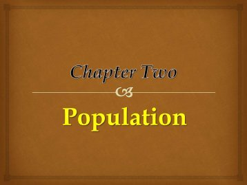 Population PPT