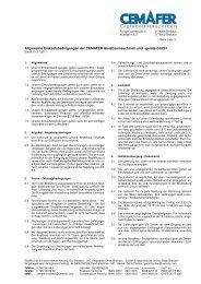 Allgemeine Einkaufsbedingungen, Stand 01.07.2011 - Cemafer GmbH