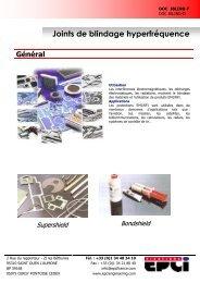 JOINT DE BLINDAGE.pdf - EPCI ENGINEERING