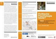 Tagung - Arbeitsgemeinschaft Politische Psychologie