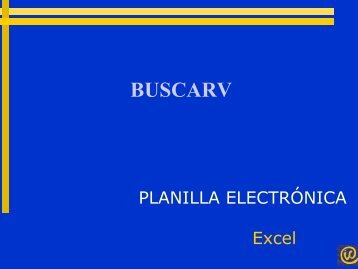 Excel funcion buscarv