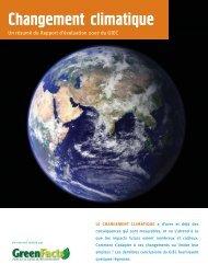 Changement Climatique - GreenFacts