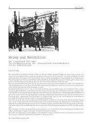 Krieg und Revolution - Der Funke