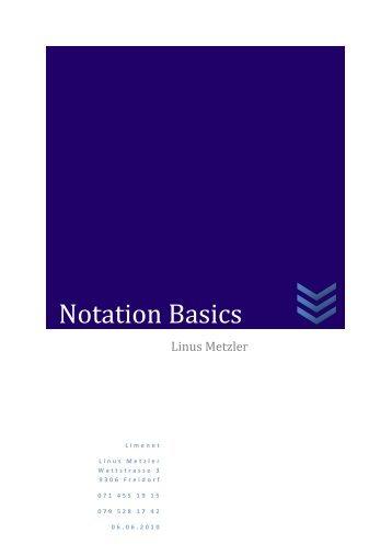 Notation Basics - limenet.ch