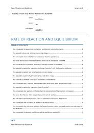 Rate of Reaction and Equilibrium - limenet.ch