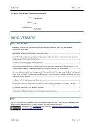BIODIVERSITÄT - limenet.ch