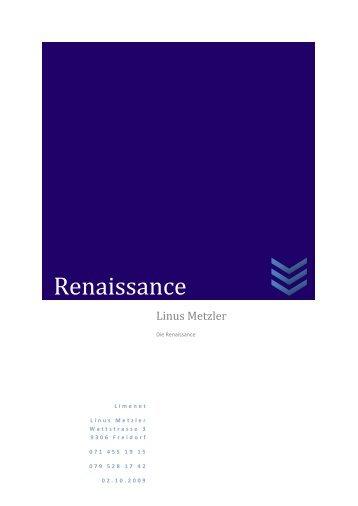 Renaissance - limenet.ch