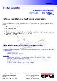 Quantum Composites Matières pour éléments de structure en ...