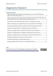 Organische Chemie II - limenet.ch