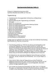 Mitgliederversammllung_Protokoll 2009 - SG Riedrode