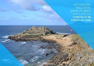 Actuacións realizadas entre os anos 2011 e 2015 no Concello de Porto do Son