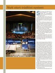 Läs artikeln om installationen med Sonys nya ... - Arva Trading AB