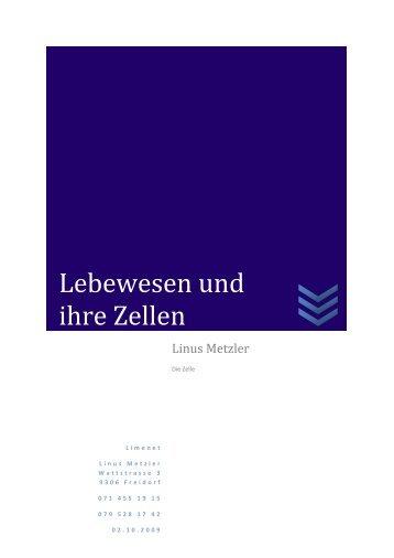 Lebewesen-und-ihre-Zellen-Lernblatt - limenet.ch