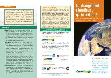 Le changement climatique: qu'en est-il ? - GreenFacts