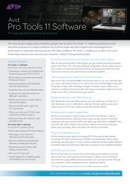 Pro Tools 11 Datasheet - Avid