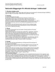 Nationella tävlingsregler för slädhundstil reviderad 2005-11-30 - Sphk