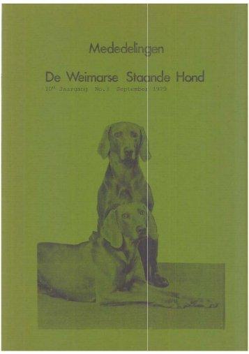Editie 3 - De Weimarse Staande Hond