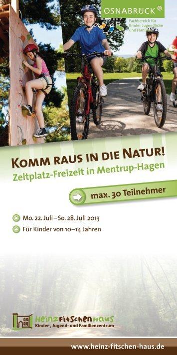 Komm raus in die Natur! - Heinz Fitschen Haus