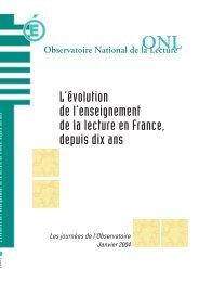 Texte Intégral - Observatoire national de la lecture