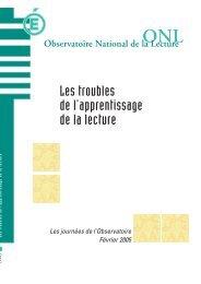 'ONL, Les troubles de l'apprentissage de la lecture, février 2005