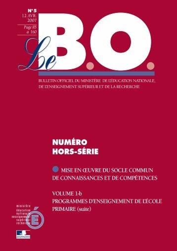 PROGRAMMES D'ENSEIGNEMENT DE L'ÉCOLE ... - Pédagogie 92