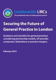 Guidance and checklist for general practices considering partnership models