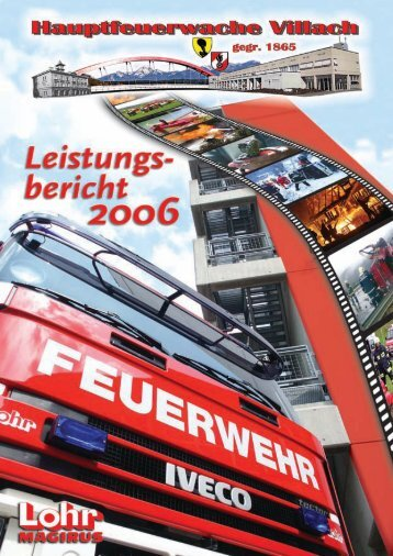 leistungsbericht 2006 - Hauptfeuerwache Villach