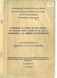 A ordenação do espaço no Mato Grosso - Grupo Retis - UFRJ