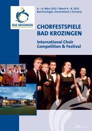 Chorfestspiele Bad Krozingen 2015 - Program Book