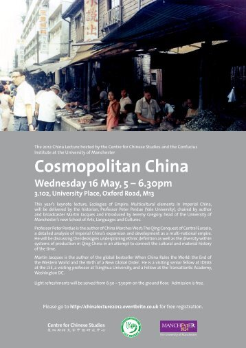 Cosmopolitan China - Centre for Chinese Studies - The University of ...