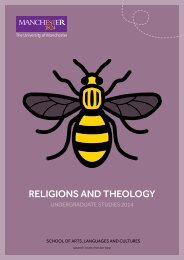 RELIGIONS AND THEOLOGY - The University of Manchester