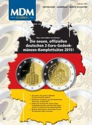 Die neuen, offiziellen deutschen 2-Euro-Gedenkmünzen-Komplettsätze 2015!