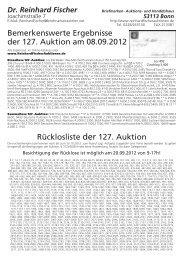 Ruecklos 127 ohne Adresse.vp - Dr. Reinhard Fischer Briefmarken ...