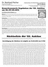 Ruecklos 133 ohne Adresse.vp - Dr. Reinhard Fischer Briefmarken ...