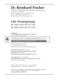 130. Versteigerung - Dr. Reinhard Fischer Briefmarken Auktions