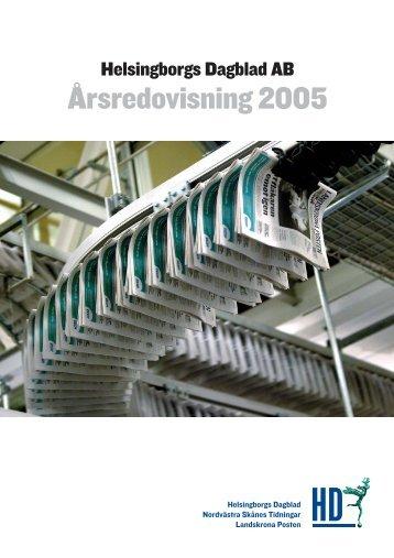 060307 Årsredovisning 2005 - Helsingborgs Dagblad