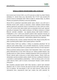 Zpráva o činnosti revizní komise Asociace pro vodu ČR za ... - CzWA