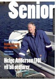 Helge Andersen (70) vil bli ordfører - Seniorsaken