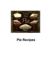 Pie Recipes - DDV Culinary