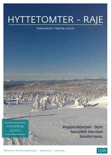 HYTTETOMTER - RAJE - Saltdalshytta