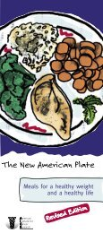The New American Plate - Meals For A Healthy ... - DDV Culinary