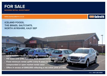 (5A1 rated covenant) • FRI lease until 27th February 2030