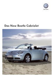 Das New Beetle Cabriolet  - Tauwald Automobile