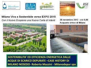 Scarica la presentazione in formato PDF - Depuratore di Milano ...