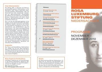 Rosa Luxemburg Stiftung Niedersachsen