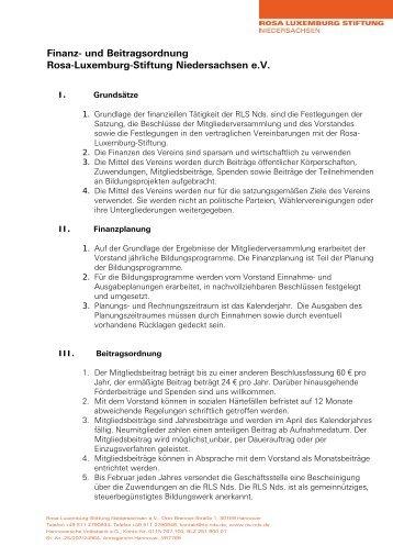Beitrags - Rosa Luxemburg Stiftung Niedersachsen