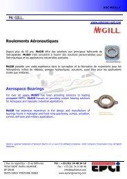 Mc GILL. Roulements Aéronautiques Aerospace Bearings - EPCI ...