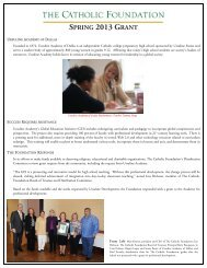 Learn more about the grant. - Ursuline Academy of Dallas