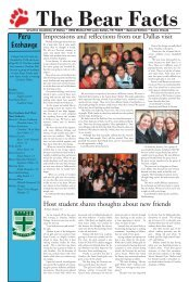 The Bear Facts - Ursuline Academy of Dallas